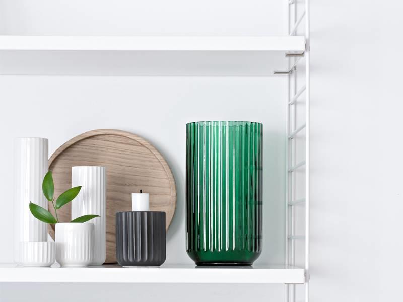 Lyngby Porcelaen Vase Green 15 cm