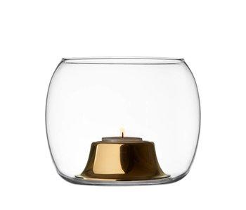 Iittala Kaasa Tealight Candleholder Clear/Rosegold