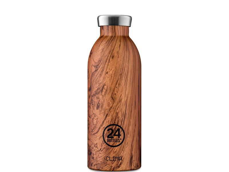 24 Bottles Clima Bottle 500 ml Sequoia Wood