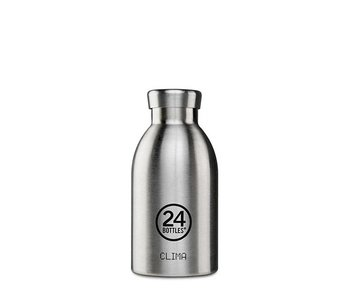24 Bottles Clima Bottle 330 ml Steel
