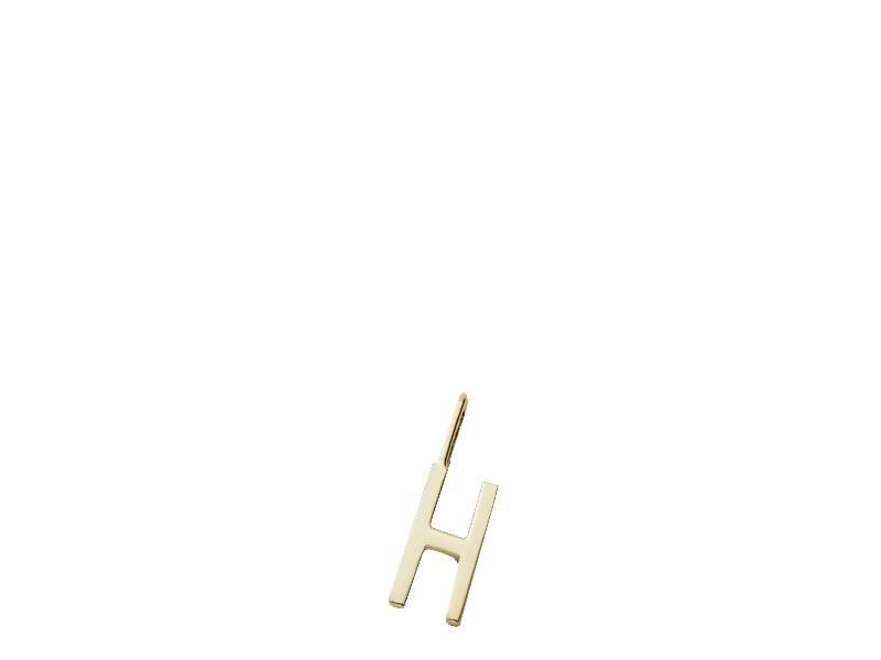 Design Letters Charm Gold Plated Silver H Online Shop Matriks