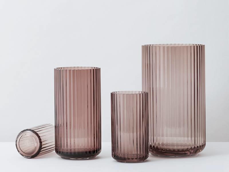Lyngby Porcelaen Vase Burgundy 15 cm