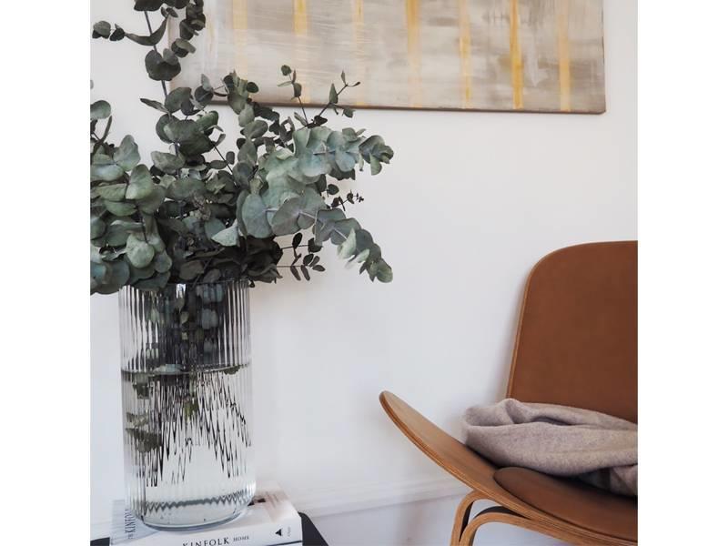 Lyngby Porcelaen Vase Clear 38 cm
