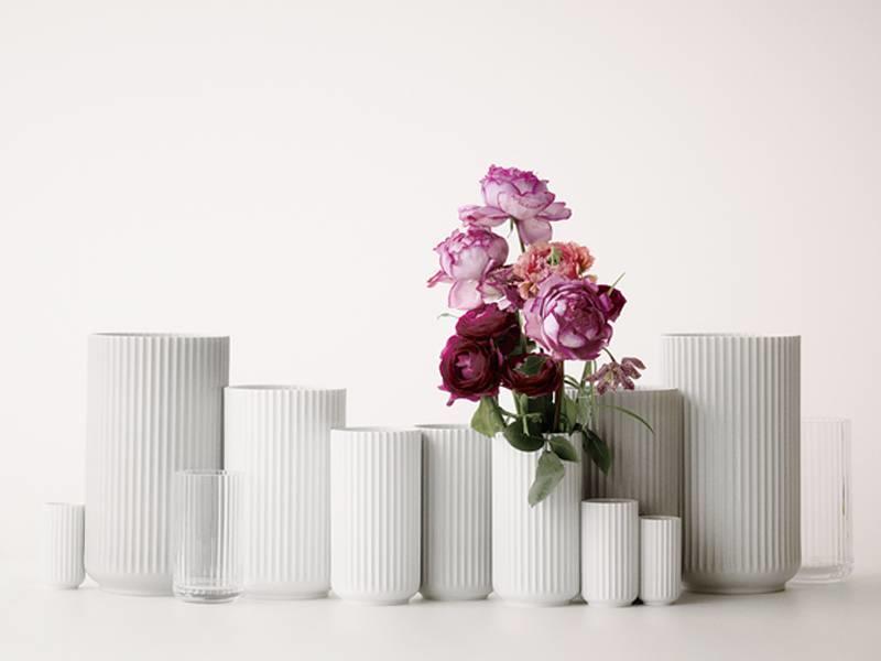 Lyngby Porcelaen Vase Clear 15 cm