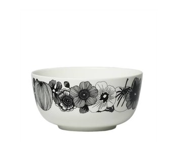 Marimekko IGC Oiva Siirtolapuutarha Bowl White/Black 9 dl