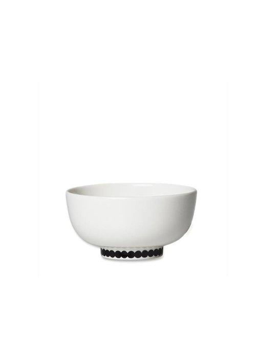 Marimekko IGC Oiva Räsymatto Bowl White/Black 3 dl