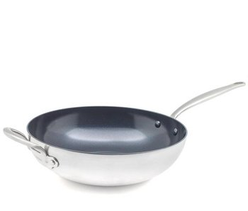 Greenpan Barcelona Evershine 3-Ply Wok 30 cm