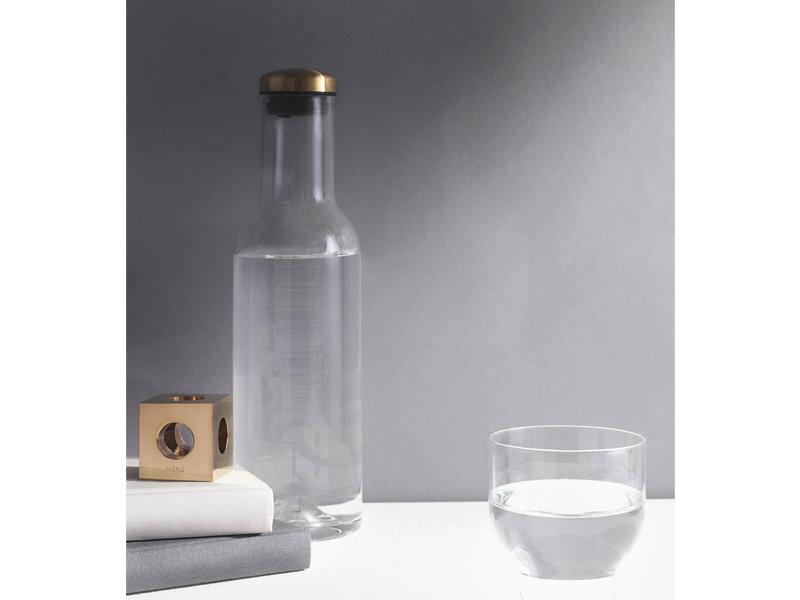Menu Water Bottle Carafe Brass Lid