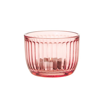 Iittala Raami Tealight Candleholder Salmon Pink