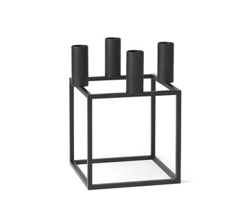 By Lassen Kubus 4 Candle Holder Black
