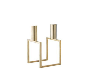 By Lassen Line Candle Holder Brass