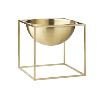 By Lassen Kubus Bowl Large Brass