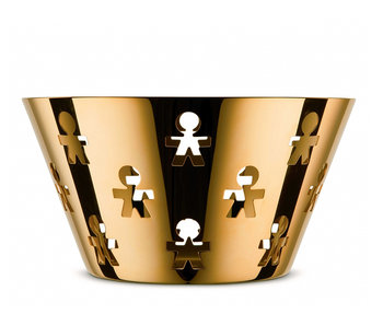 Alessi Girotondo Basket Large 24K Gold Limited Edition
