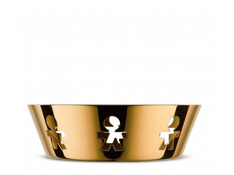 Alessi Girotondo Basket Small 24K Gold Limited Edition