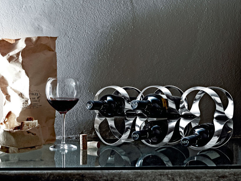 Alessi Ribbon Wijnrekje Super Zwart