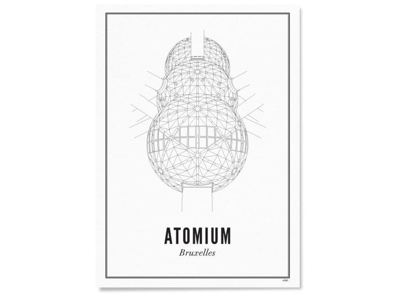 Wijck Poster Brussels Atomium 30/40