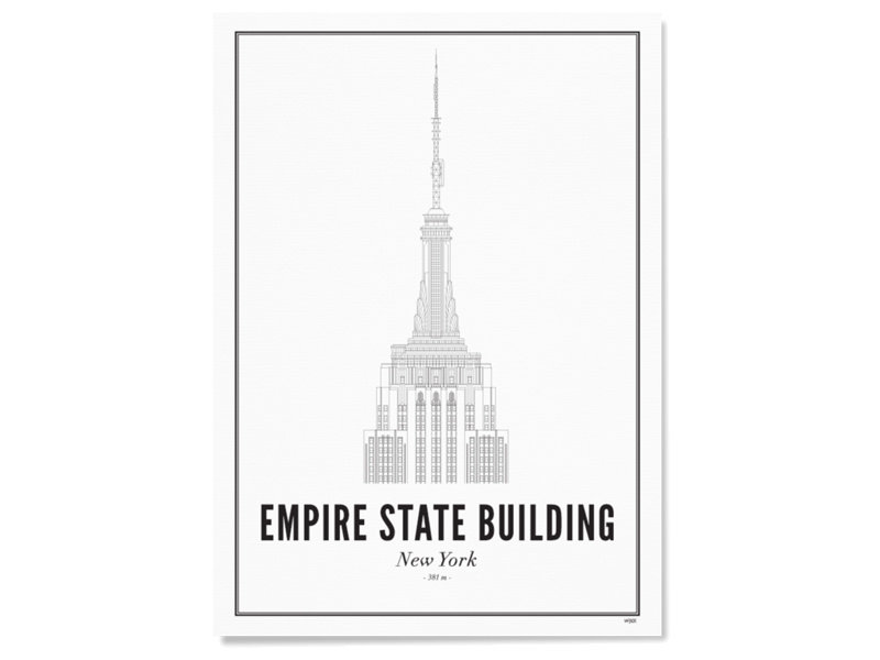 Wijck Poster New York Empire State Building 30/40