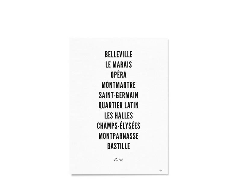 Wijck Poster Paris City Typography 21/30