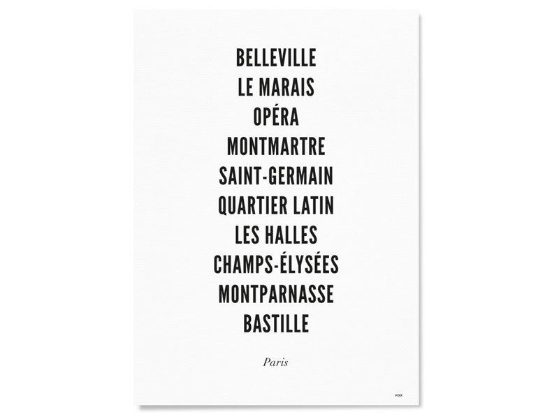 Wijck Poster Paris City Typography 30/40