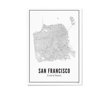 Wijck Poster San Francisco City 30/40