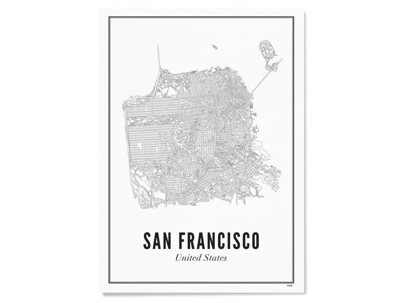 Wijck Poster San Francisco City 30/40