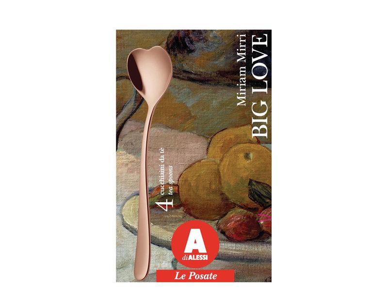 Alessi Big Love Teaspoons 4 pcs. Golden Pink