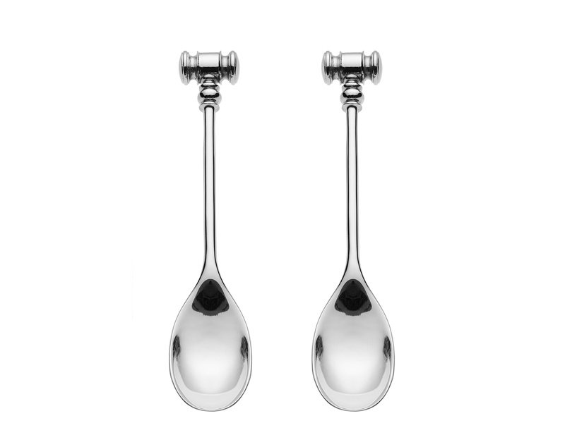 Alessi Dressed Spoon With Egg Opener 2 pcs.