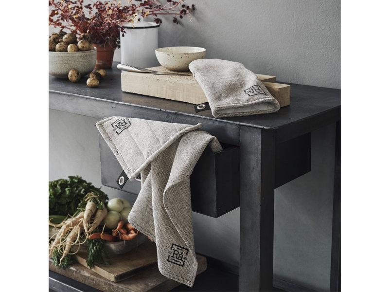 Juna Ra Tea Towel Dark Grey