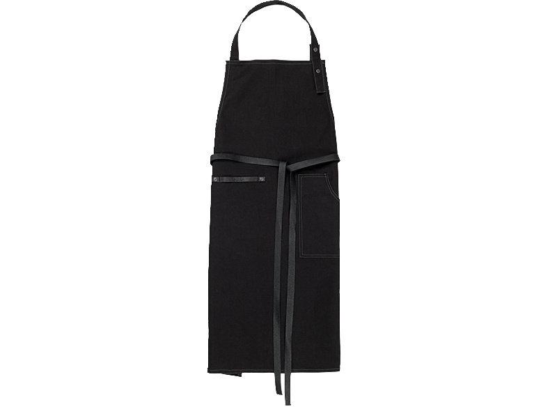 Juna Ra Apron Black Cotton Leather