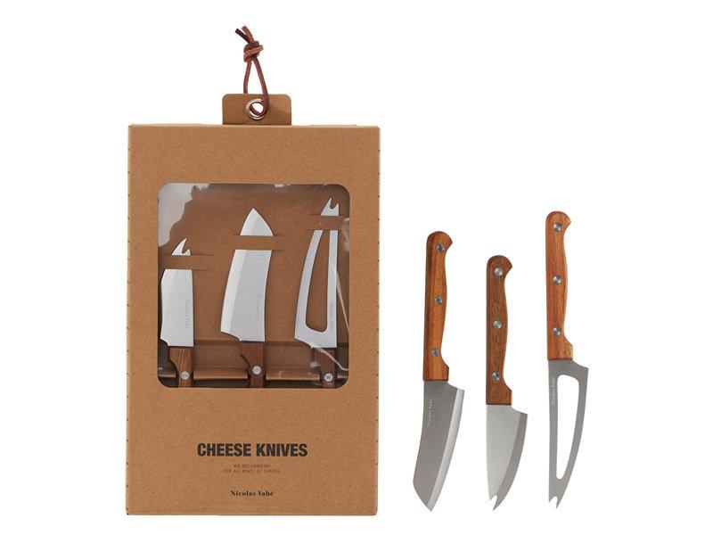 Nicolas Vahé Cheese Knifes Acacia Wood/Inox 3 pcs.