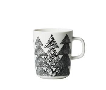 Marimekko IGC Oiva Kussikossa Mug White/Black 2,5 dl