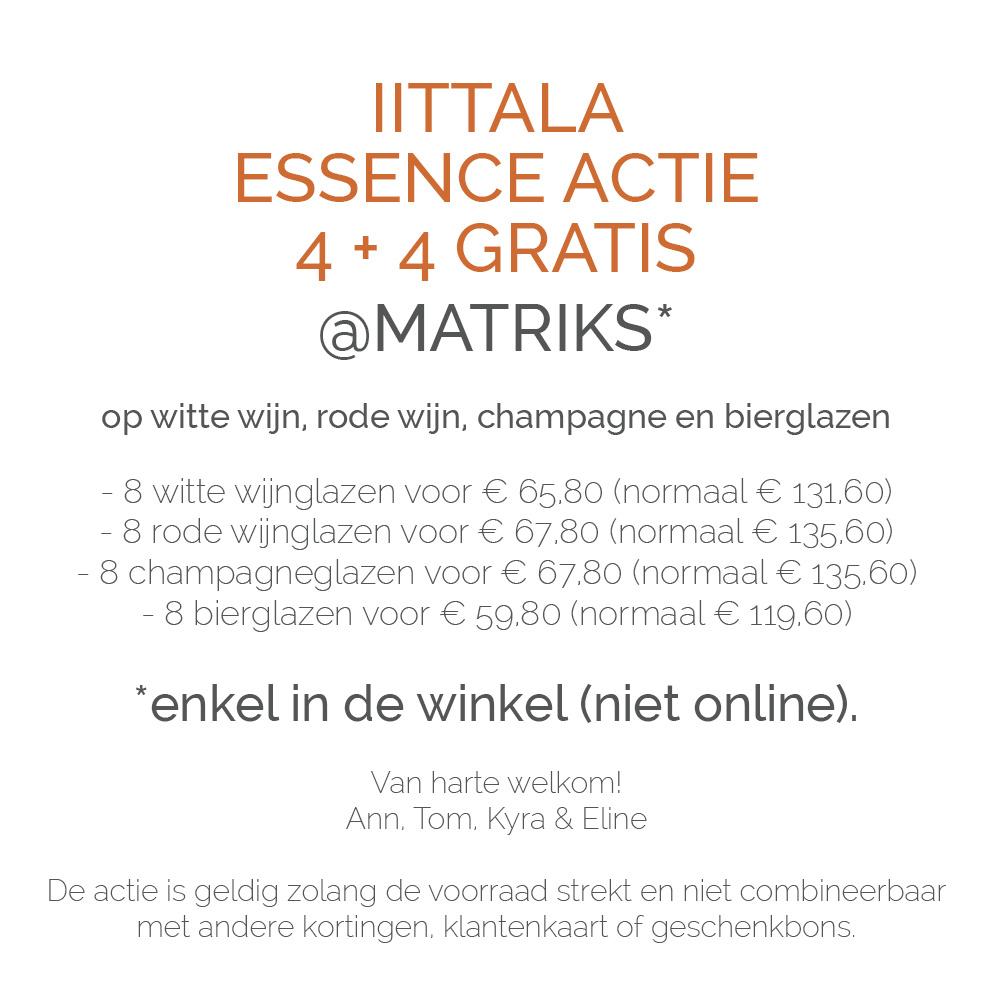 Matriks Iittala Essence Actie
