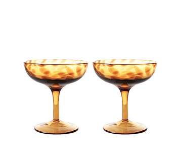 &Klevering Champagne Coupe Tortoise 2 pcs.