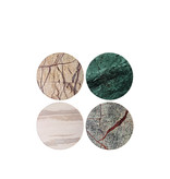&Klevering Coasters Coloured Marble 4 pcs.