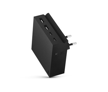 Usbepower Hide PD Wall Powerhub 5 In 1 Black