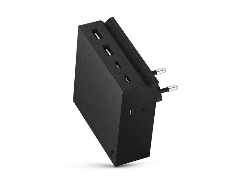 Usbepower Hide PD Wall Powerhub 5 In 1 Black