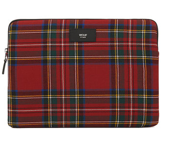 Wouf Red Tartan Laptop Sleeve 13""