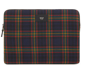Wouf Blue Tartan Laptop Sleeve 13""