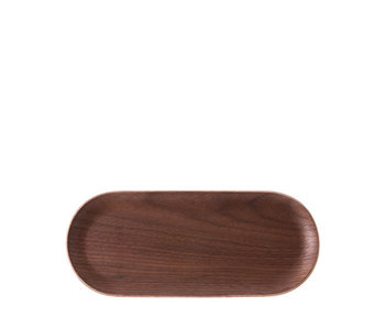 HK Living Oval Tray Walnut