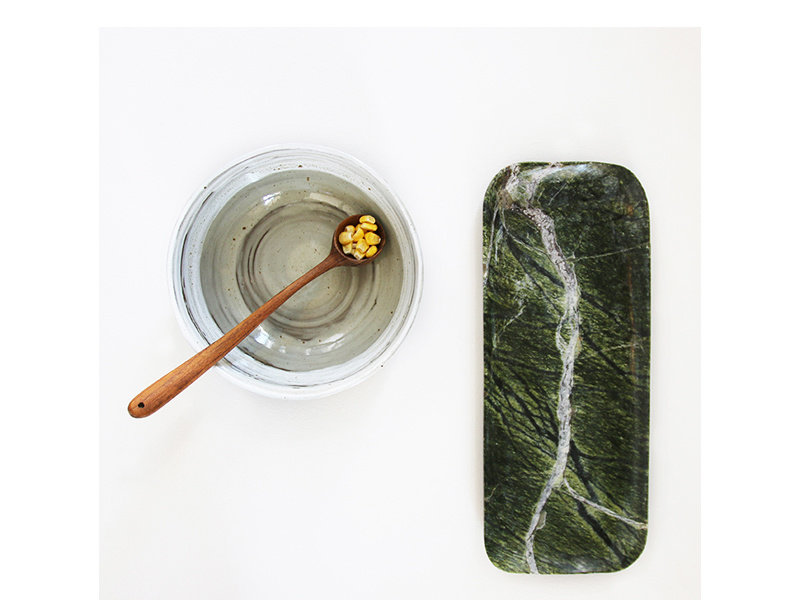 HK Living Marble Tray Green