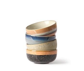HK Living Ceramic 70's Bowls Medium 4 pcs.