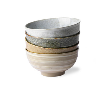 HK Living Kyoto Ceramic Japanese Noodle Bowls 4 pcs.