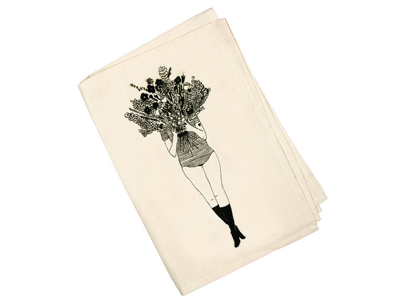 Helen B Tea Towel  Flower Gir