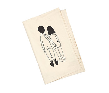 Helen B Tea Towel  Naked Couple Back