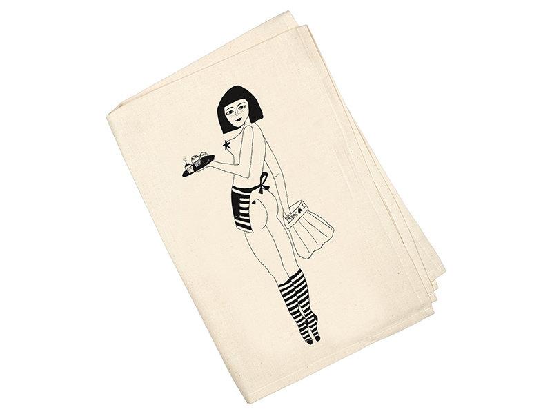 Helen B Tea Towel  Pin Up Cake Girl