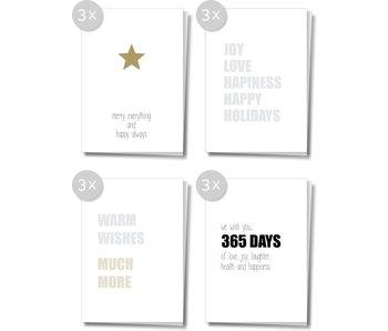 Matriks Dubbele Kerst- en Nieuwjaarskaarten 12 pcs. Set 5
