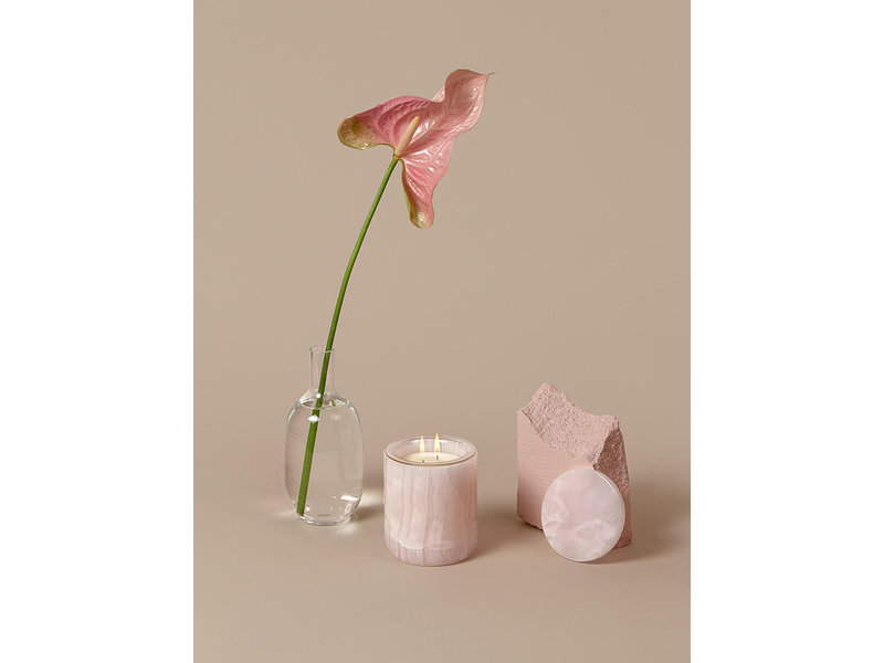 The Luxuriate Pink Onyx Candle Holder