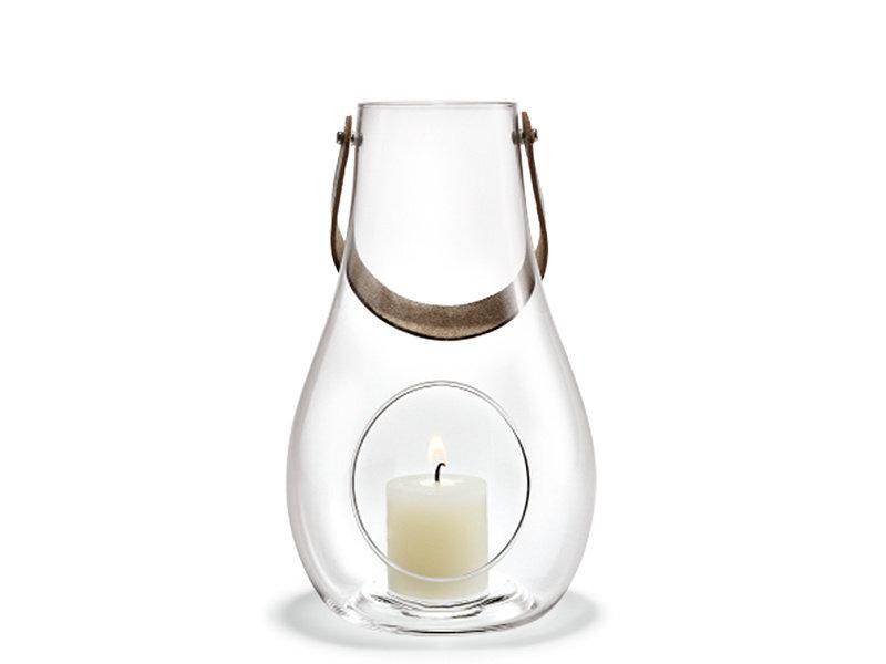Holmegaard Lantern With Leather Handle Medium