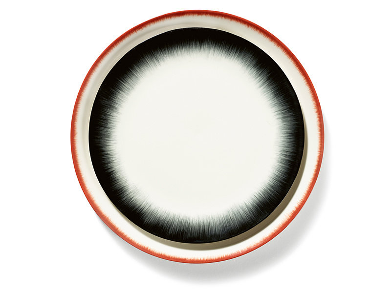 Serax Dé Bord Off-White/Red VAR5 24 cm