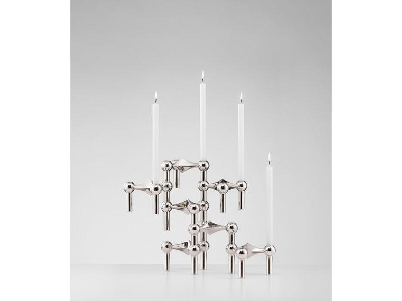 Stoff Nagel Candle Holder Chrome Set 3 pcs.